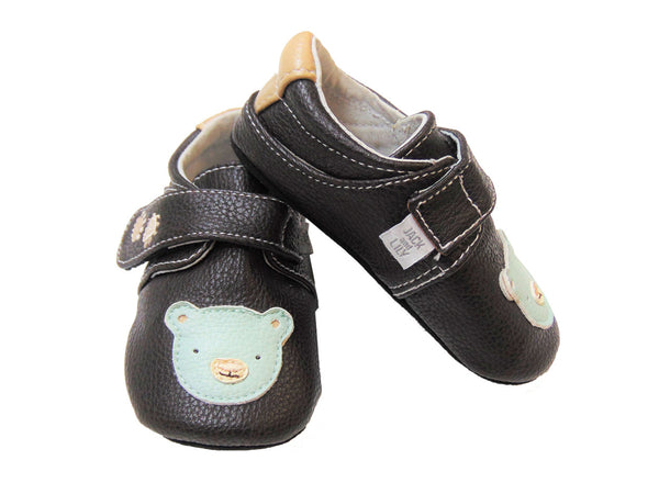 Jack & Lilly Shoe - Rubber Sole Leather Bear Shoe