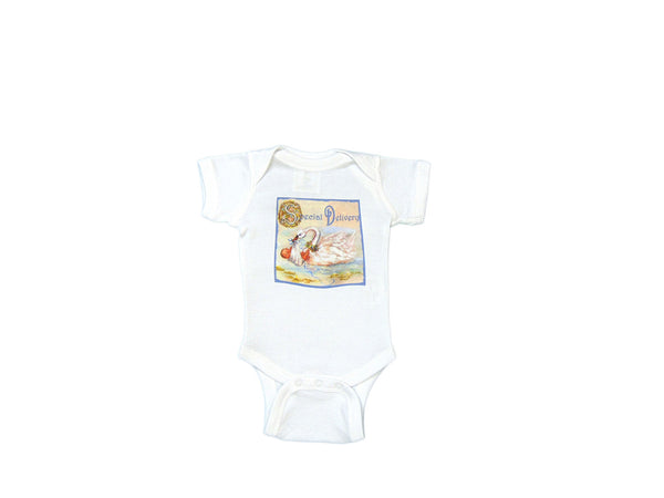 "Mumsy Goose - Cotton Graphic Onesie ""Special Delivery"""