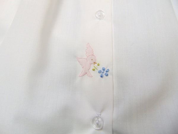 Auraluz - Cotton Daygown with Bird Embroidery Detail
