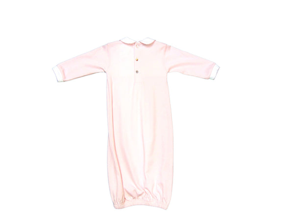 Baby Threads - Soft Cotton Smocked Bear Gown with Ribbon Trim