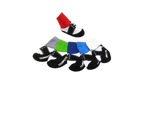 Trumpette Socks - 6-Pack 100% Cotton  Multi-Colored Oxford Socks