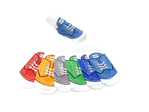 Trumpette Socks - 6-Pack 100% Cotton  Multi-Colored Tennis Shoe Socks