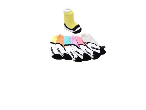 Trumpette Socks - 6-Pack 100% Cotton Multi-Colored Mary Jane Shoe Socks