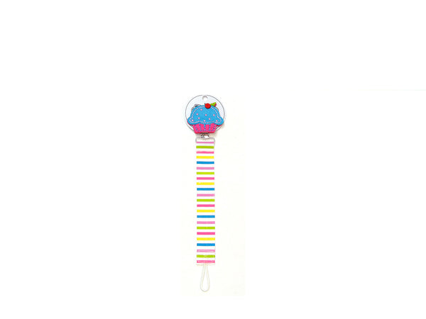 Mudpie Pacifier Clip - Cupcake Theme Pacifier Clip