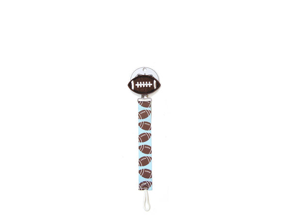Mudpie Pacifier Clip - Football Theme Pacifier Clip