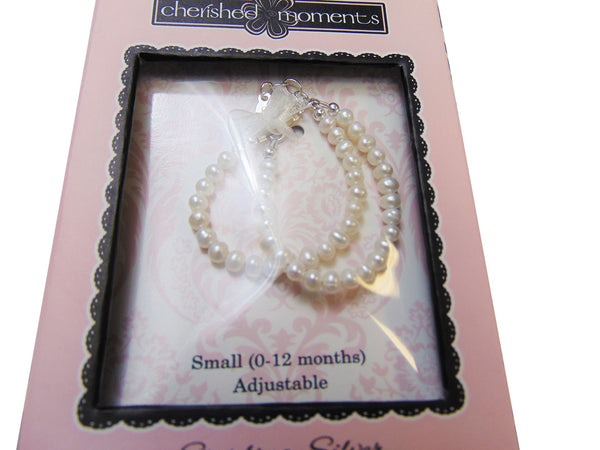Cherished Moments - Freshwater Pearl Double strand Bracelet (0-12M)