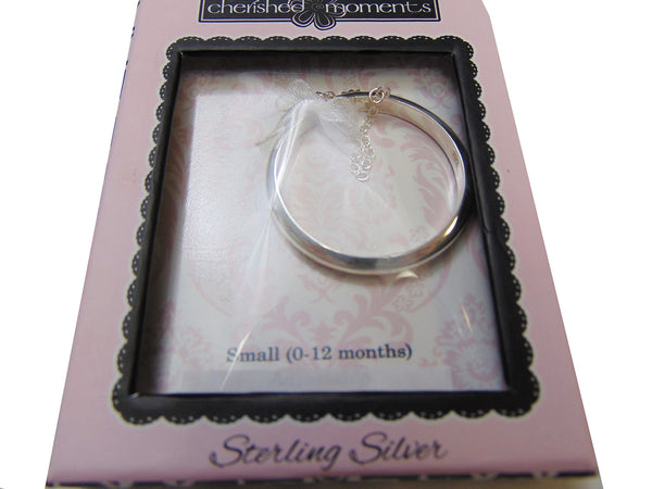 Cherished Moments - Sterling Silver Baby Bangle Bracelet (0-12M)