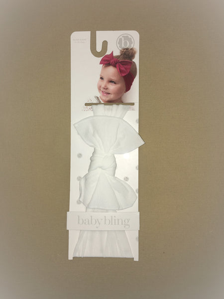 Baby Bling White Headband