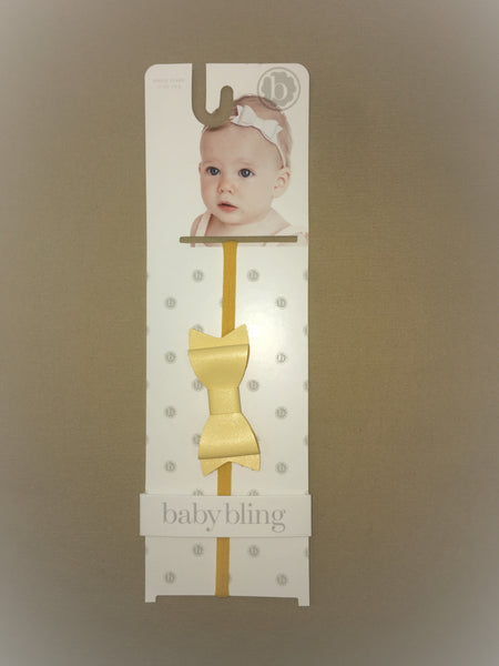 Baby Bling Light Yellow Skinny Headband