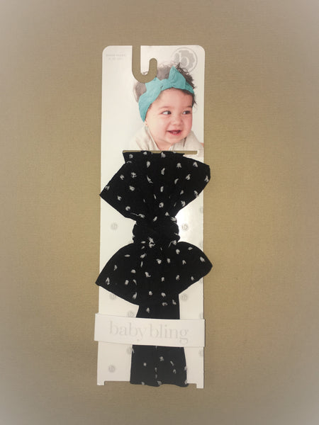 Baby Bling Black/White Dot Headband