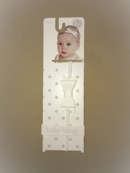 Baby Bling White Skinny Headband