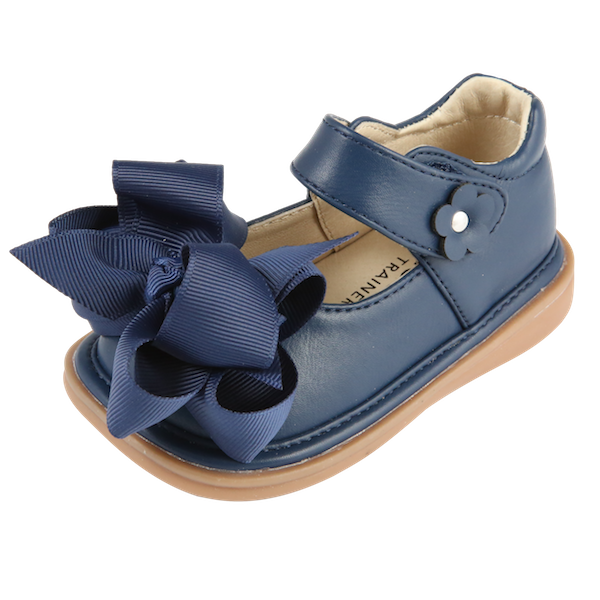 Mooshu Trainers Ready Set Bow Mary Jane-Navy