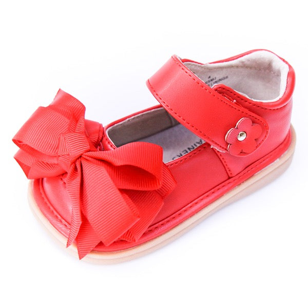 Mooshu Trainers Ready Set Bow Mary Jane-Red