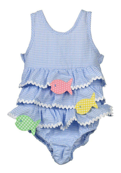 Funtasia Too Gingham Fish Swimsuit
