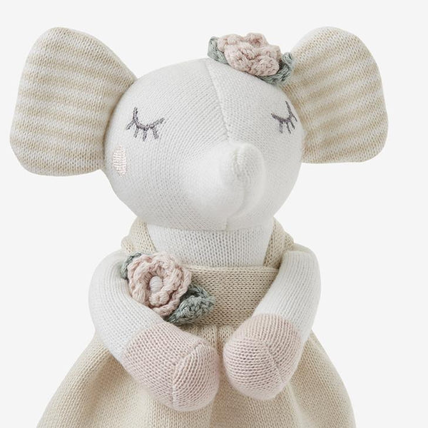Elegant Baby Elephant Princess Knit Toy