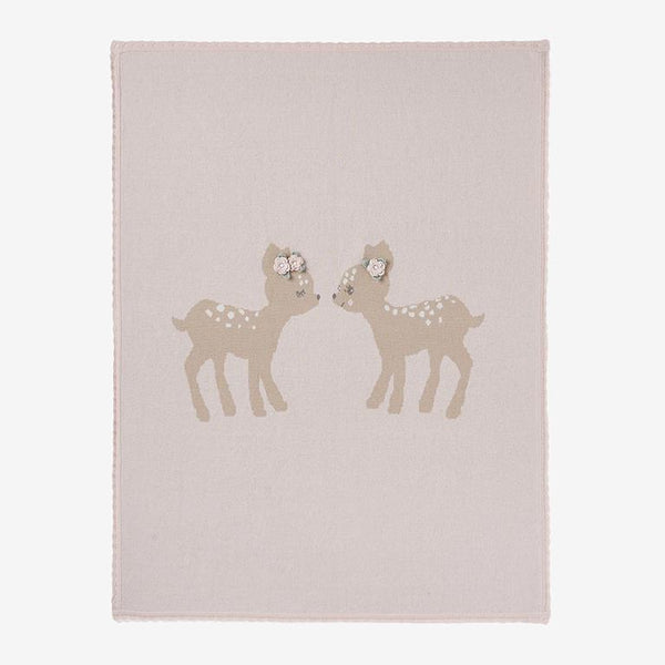 Elegant Baby Fawn Knit Baby Blanket