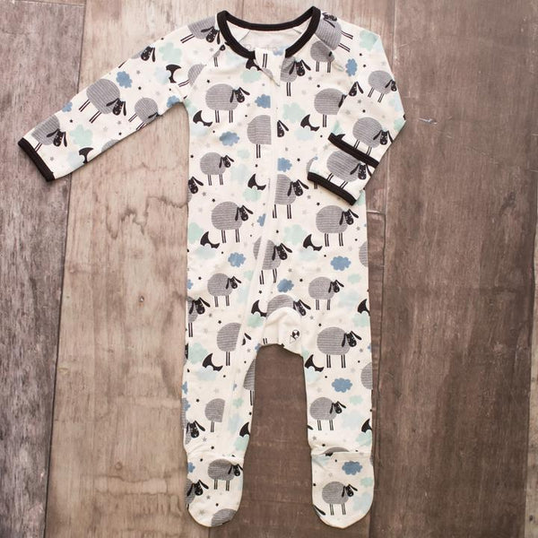 Bestaroo Black Sheep Print Footie (Boy)