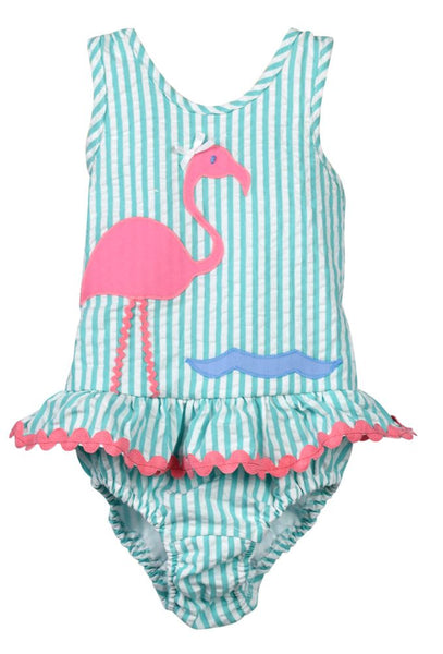 Funtasia Too Seersucker Flamingo Swimsuit