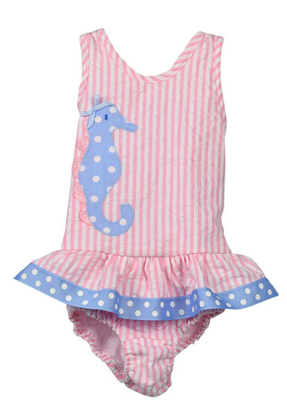 Funtasia Too Seersucker Seahorse Swimsuit
