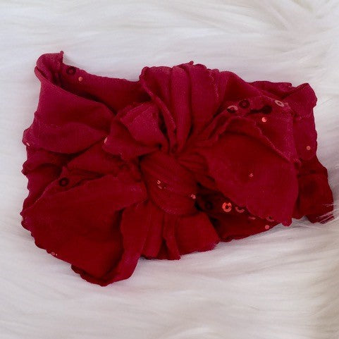In Awe Couture Red Sequin Headband
