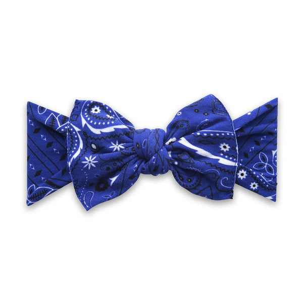 Baby Bling Headband-Royal Blue Bandana