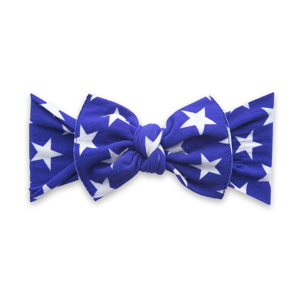 Baby Bling Headband-Royal Blue Stars