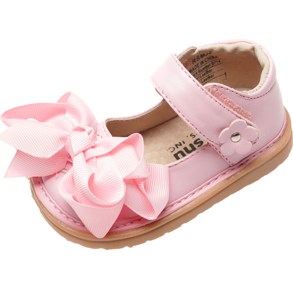 Mooshu Trainers Ready Set Bow Mary Jane-Pink