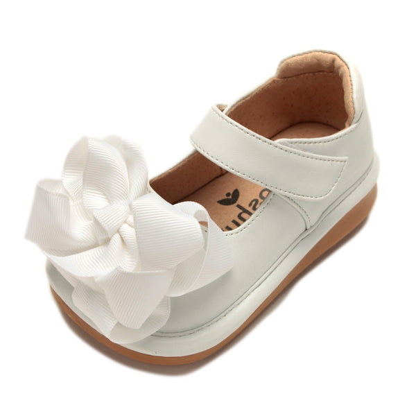 Mooshu Trainers Ready Set Bow Mary Jane-White