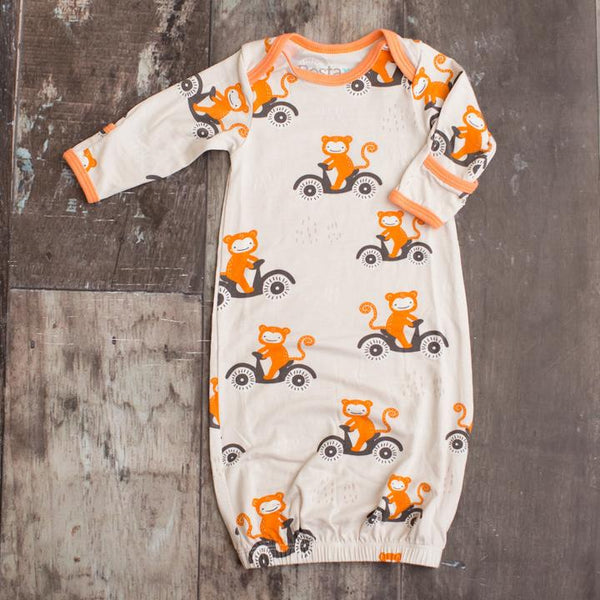 Bestaroo Orange Monkey Print Gown
