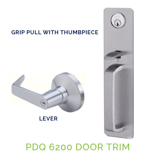 Pdq 6200 Exit Device Trim Grip Pull With Thumbpiece