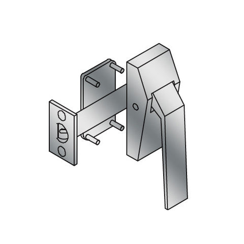 ABH 6831 Reverse Low Profile Hospital Push Down Latch   Right Hand