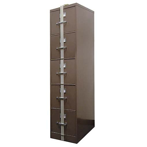 HPC Security Locking Bars For 5 Drawer File Cabinet