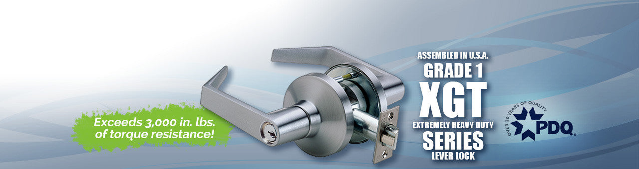 Commercial Doors, Commercial Door Hardware, PDQ XGT Extremely Heavy Duty Cylindrical Locks