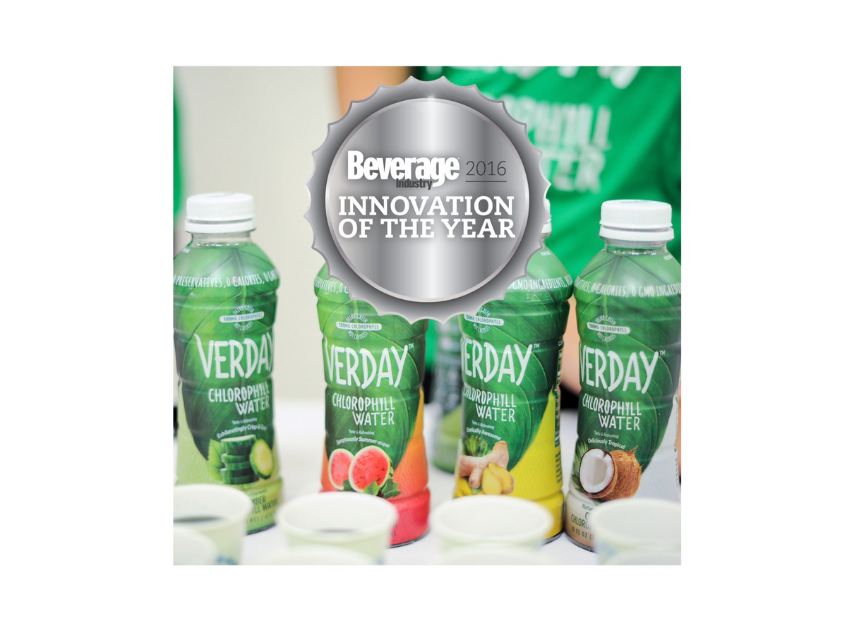 Verday is awarded '2016 Innovation of the Year' by Beverage Industry Magazine