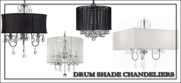 Drum Shade Chandeliers