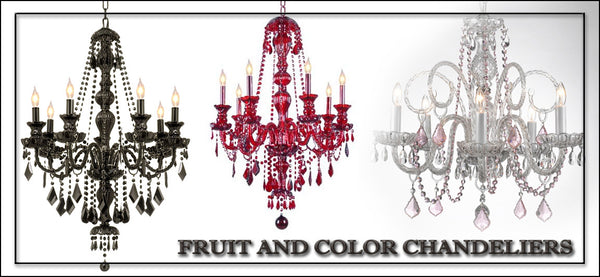 Fruit and Color Chandeliers