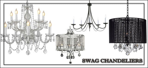 Swag Plug-in Chandeliers
