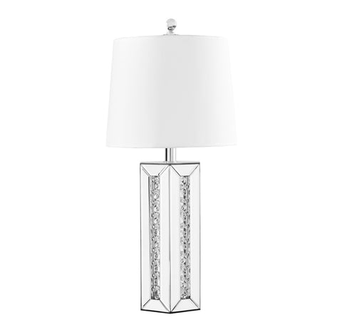 ZC121-ML9308 - Regency Decor: Sparkle Collection 1-Light Silver Finish Table Lamp