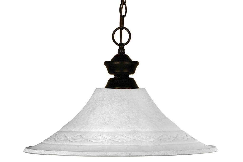 Zlite 1 Light Pendant - C161-100701BRZ-FWM16