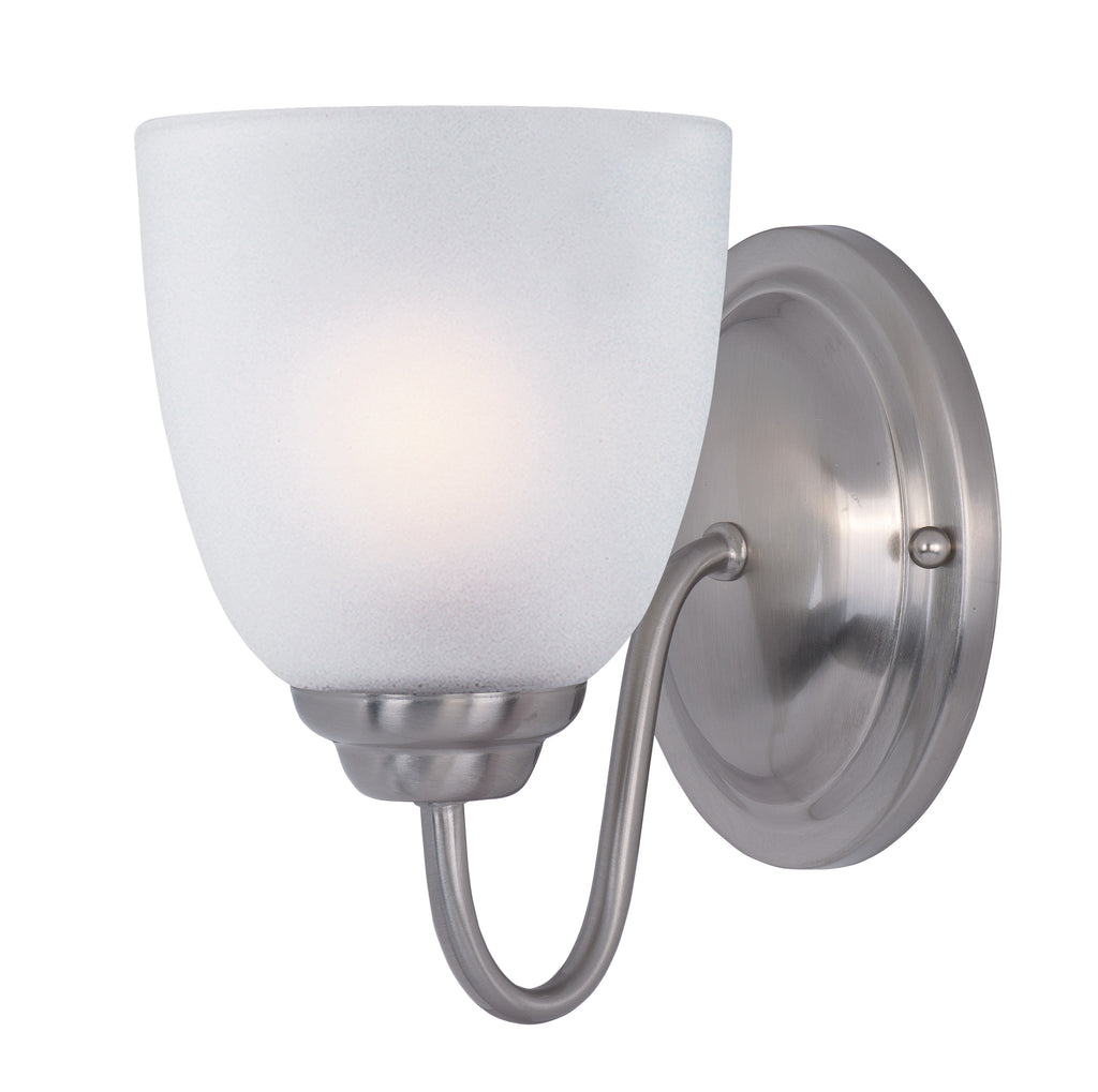 Stefan 1-Light Wall Sconce Satin Nickel - C157-10071FTSN