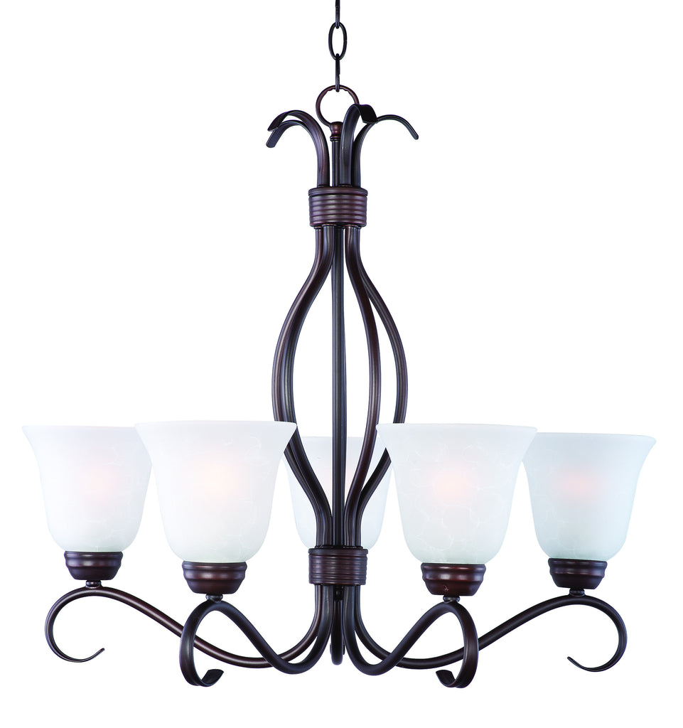 Basix 5-Light Chandelier Oil Rubbed Bronze - C157-10125ICOI