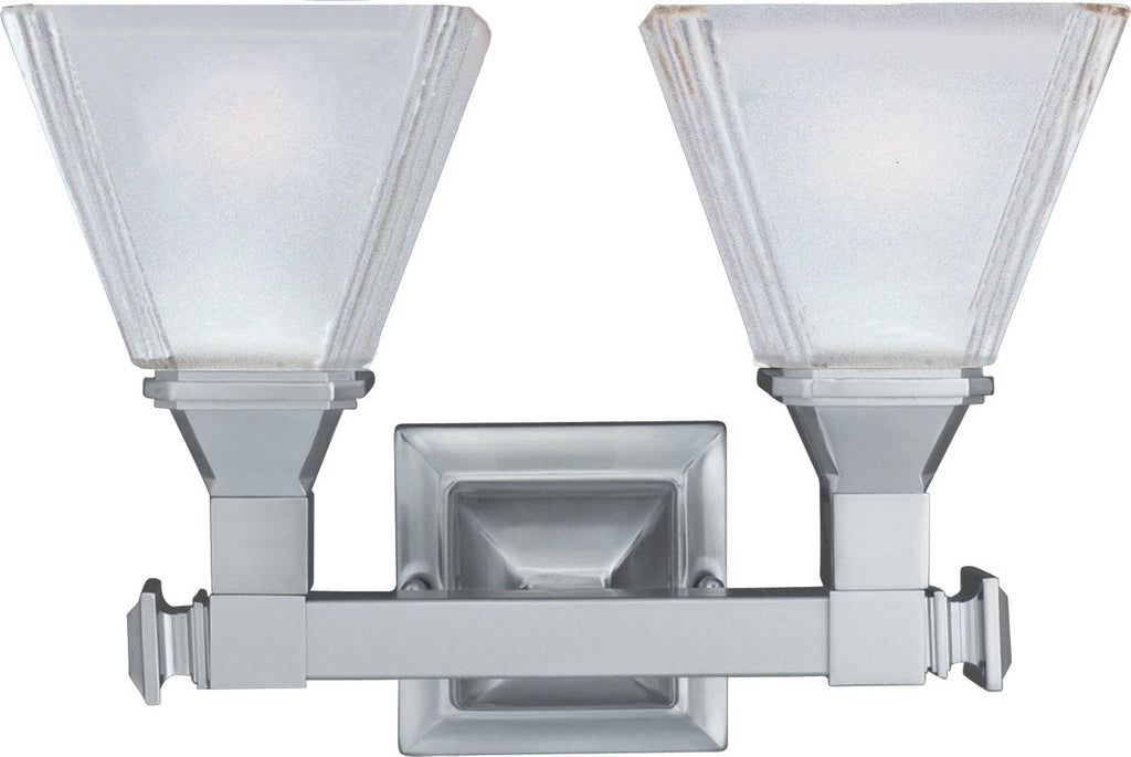 Brentwood 2-Light Bath Vanity Satin Nickel - C157-11077FTSN