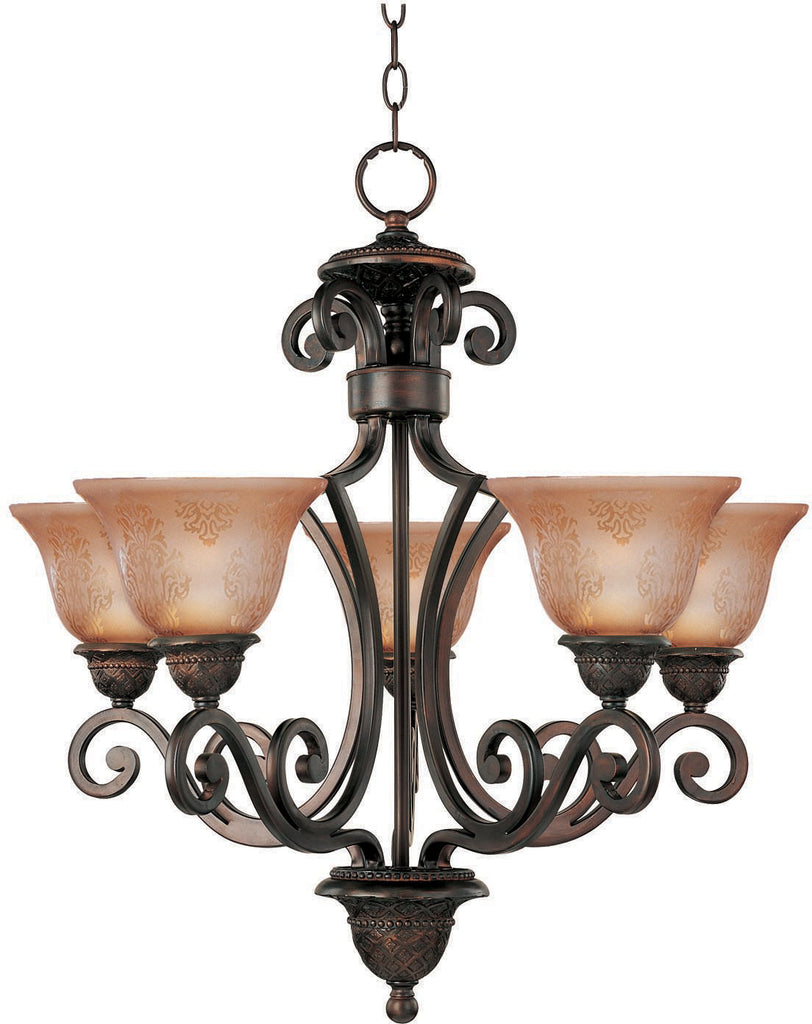 Symphony 5-Light Chandelier Oil Rubbed Bronze - C157-11244SAOI