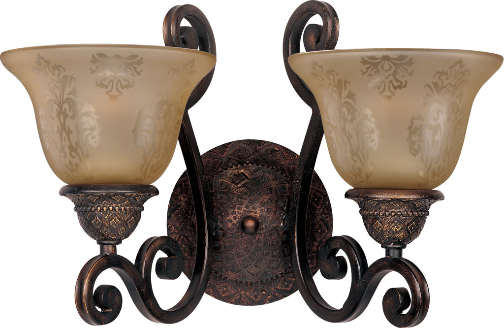 Symphony 2-Light Wall Sconce Oil Rubbed Bronze - C157-11247SAOI