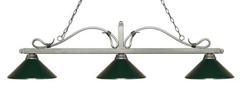Zlite 3 Light Billiard Light - C161-114-3AS-MDG