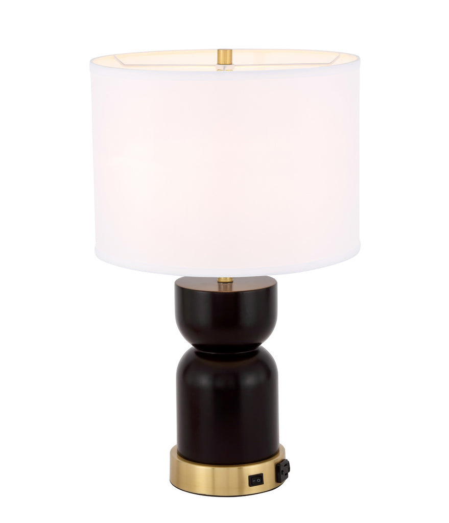 ZC121-TL3040BR - Regency Decor: Jericho 1 light Brass Table Lamp