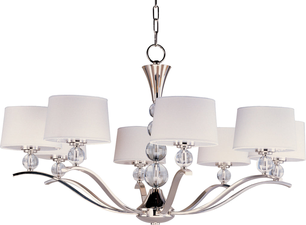 Rondo 8-Light Chandelier Polished Nickel - C157-12758WTPN