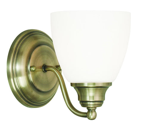 Livex 1 Light Antique Brass Wall Sconce - C185-13671-01