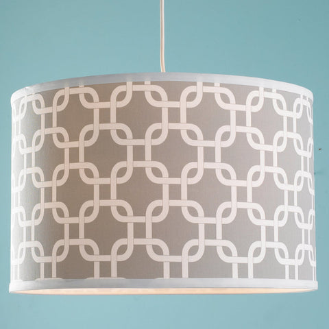 16 Inch Geometric Fretwork Pattern Shade Pendant Light - F100-565
