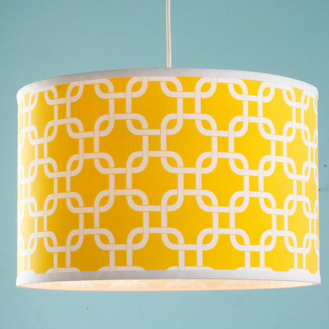 16 Inch Geometric Fretwork Pattern Shade Pendant Light - F100-569